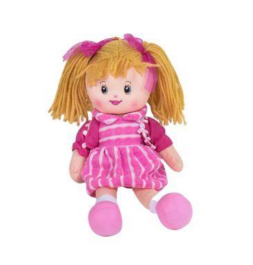 Мягкая игрушка Кукла С38944 в малиновом