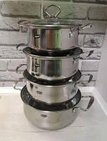 Набор кухонных кастрюль Royal Queen RY2061 из нержавеющей стали