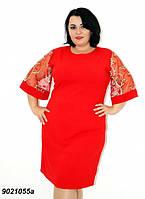 Элегантное нарядное платье,красное 50,52, фото 1