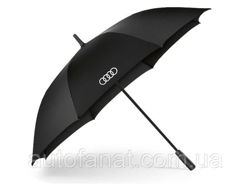 Оригинальный зонт-трость Audi Rings Stick Umbrella, Big, Black (3121700200)