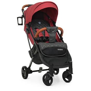 Прогулянкова дитяча коляска-книжка EL Camino М 3910 Garmine Red Гарантія якості Швидкість доставки