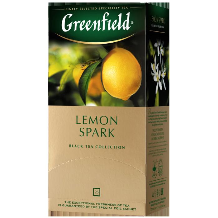 """Чай пакетированный черный Greenfield """"Lemon Spark"""" 25шт Лимон"""