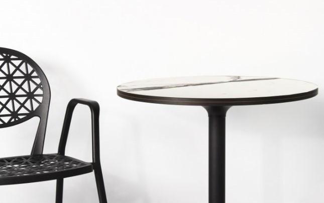 Столешница MarbleArt taQ60 HPL круглая под мрамор