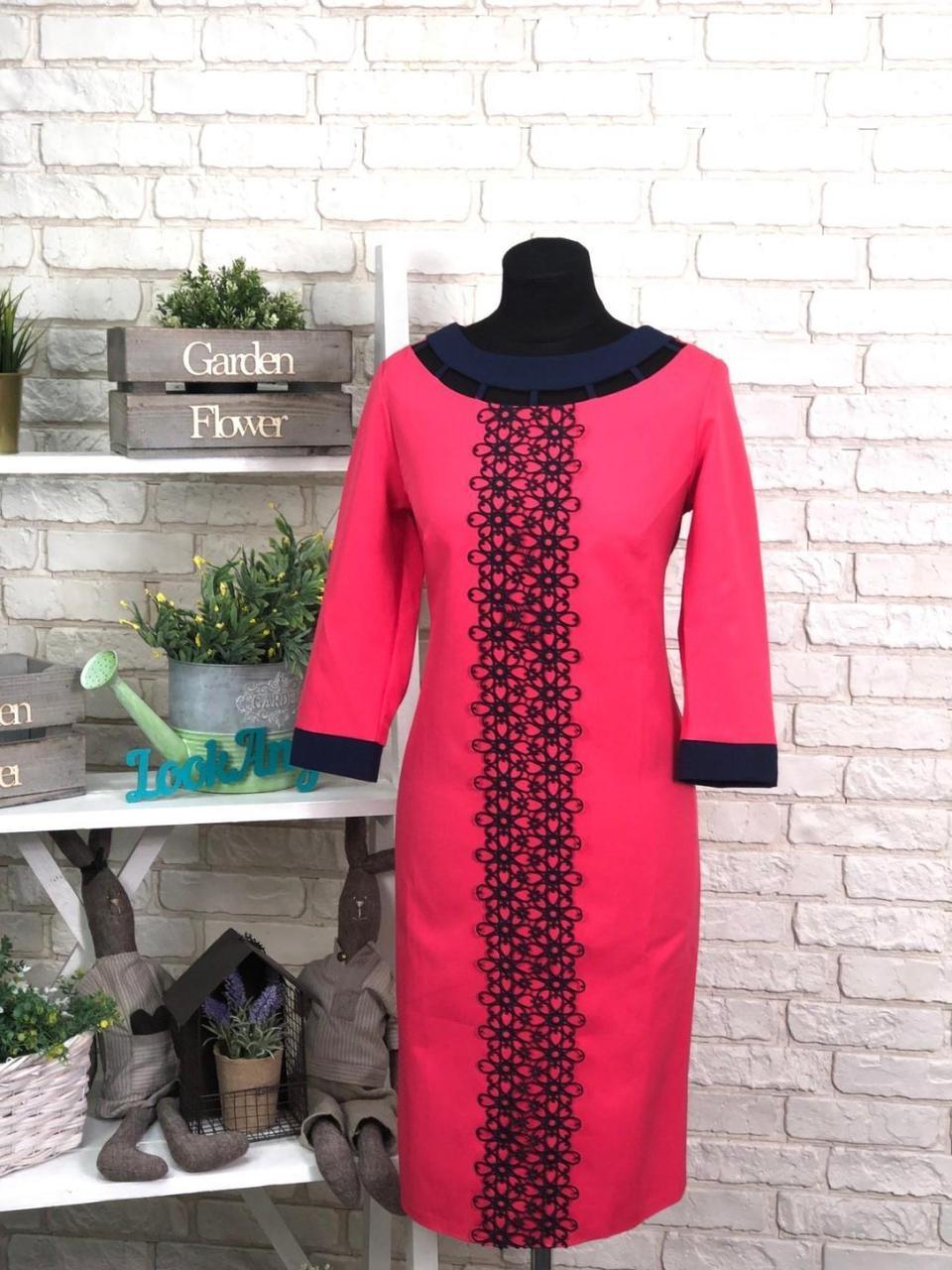 """Шикарное женское платье ткань """"Костюмная"""" 48 размер батал"""