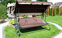 Качеля садовая скамья  BUJANA-GRACJA 4 места 230 см.