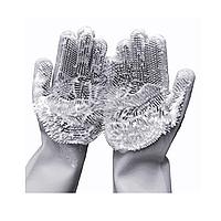 Силиконовые перчатки с ворсом для уборки ванной кухни автомобиля
