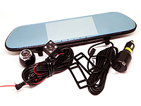 "Видеорегистратор Зеркало DVR V9TP - 3 камеры - Full HD - 5"" Сенсорный Экран"
