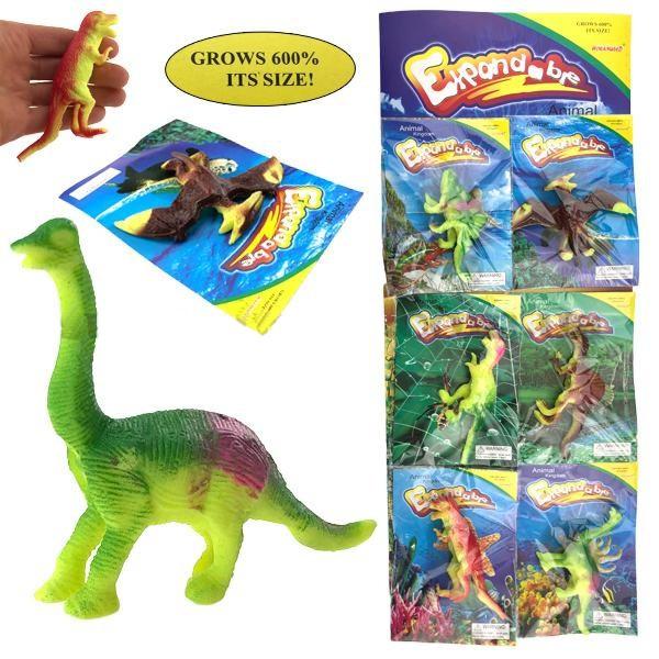 Игрушка растушка большая Динозавр 6 шт