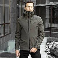 Мужская демисезонная куртка Pobedov Soft Shell хаки
