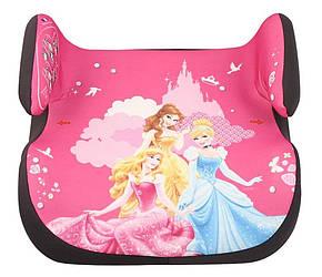 Автокресло для девочки, бустер 25-36 кг, группа 3, Принцессы