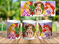 Чашка для девочки с фото и поздравлением