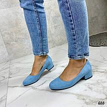 Женские туфли голубого цвета, фото 2
