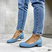 Женские туфли голубого цвета, фото 3