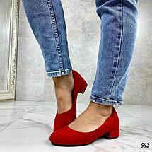 Красные замшевые туфли лодочки, фото 2