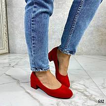Красные замшевые туфли лодочки, фото 3