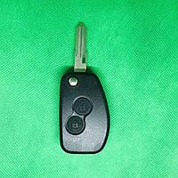 Корпус авто ключа для переделки из обычного Renault Logan,Sandero,lodgy,Duster (Рено) 2 кнопки, лезвие VAC102