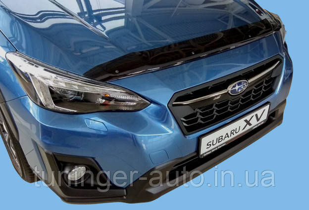 Мухобойка, дефлектор капота Subaru XV 2017- (Sim)
