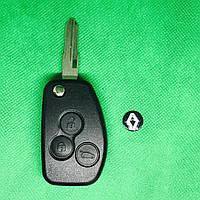Корпус авто ключа для переделки из обычного Renault Logan,Sandero,lodgy,Duster (Рено) 3 кнопки, лезвие VAC102