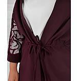 Нежный и элегантный костюм-тройка №684-бордо, фото 3
