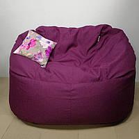 Бескаркасный диван KatyPuf рогожка + подушка в подарок, Размер L 120 см