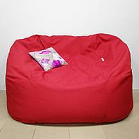 Бескаркасный диван KatyPuf рогожка, Размер L 120 см