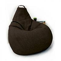 Кресло-груша KatyPuf темно-коричневое Рогожка , Размер XXL 140x100
