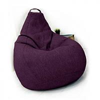 Кресло-груша KatyPuf фиолетовое Рогожка , Размер XL 125x90