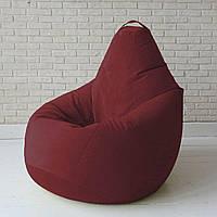Кресло-груша KatyPuf бордовое Велюр, Размер XL 125x90