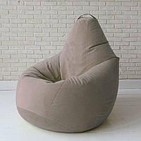 Кресло-груша KatyPuf бежевое Велюр, Размер XL 125x90