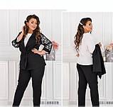 Нежный и элегантный костюм-тройка №684-черный, фото 2