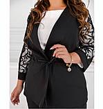 Нежный и элегантный костюм-тройка №684-черный, фото 4
