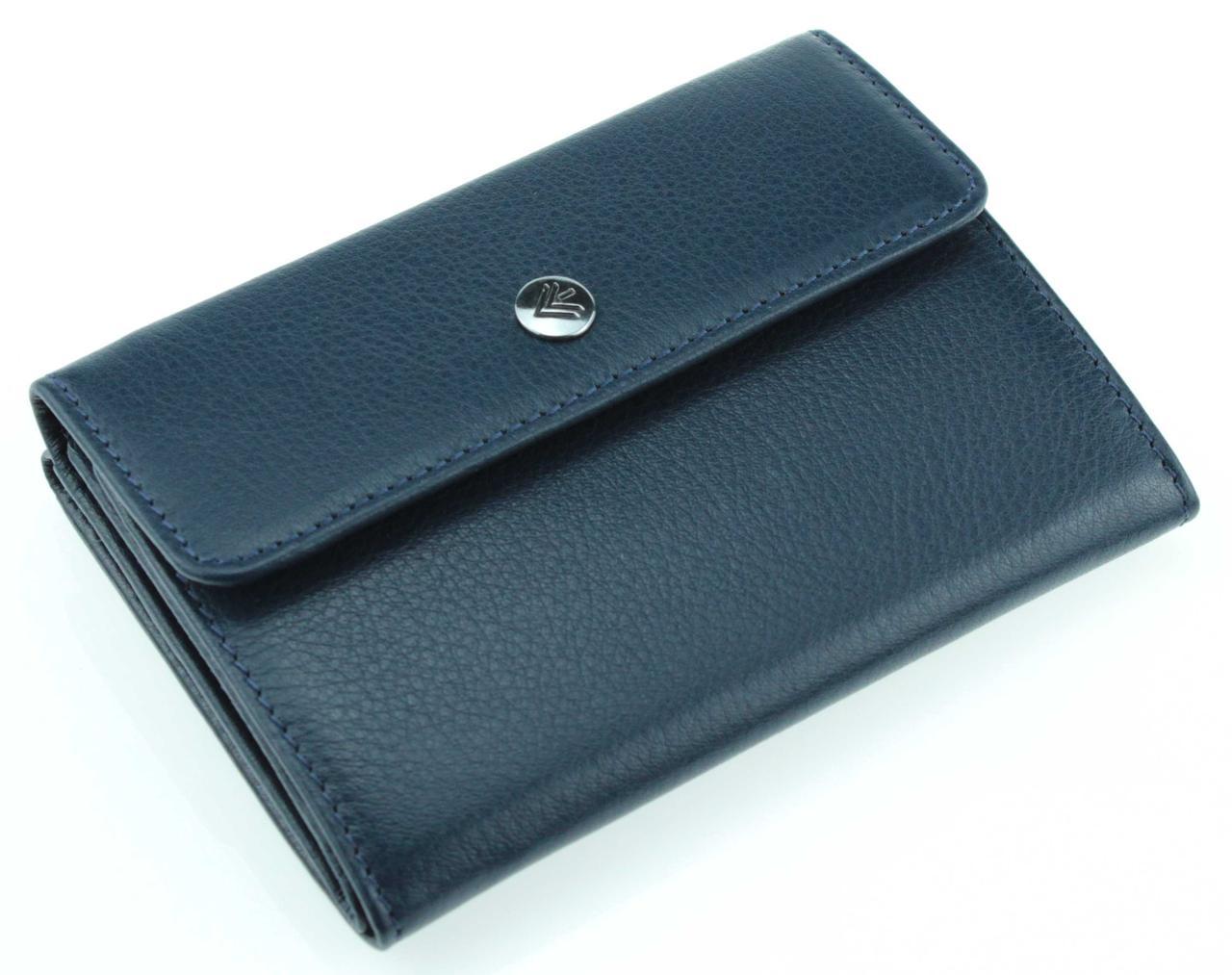 Жіночий гаманець Eminsa 2019-18-19 шкіряний синій з відділенням для автодокументів