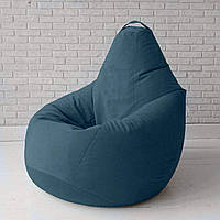 Кресло-груша KatyPuf темно-бирюзовое Велюр, Размер XXL 140x100
