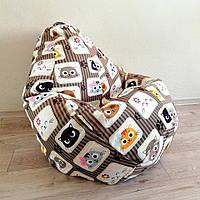 "Кресло-мешок KatyPuf ""Little Cats"" Коттон, Размер XL 125x90"