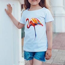 Печать рисунков на детских футболоках