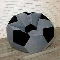 Кресло-мяч KatyPuf серое Велюр, Размер 50см