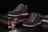 Мужские ботинки замшевые зимние синие Yuves 600, фото 3