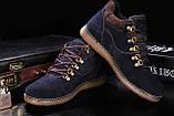 Мужские ботинки замшевые зимние синие Yuves 600, фото 4