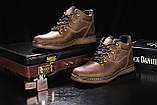 Мужские ботинки кожаные зимние оливковые Yuves 600, фото 3
