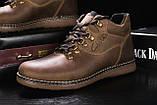 Мужские ботинки кожаные зимние оливковые Yuves 600, фото 4