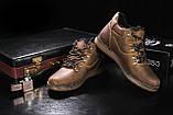 Чоловічі черевики шкіряні зимові оливкові Yuves 600, фото 5