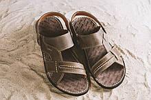 Чоловічі сандалі шкіряні літні коричневі Bonis Original 25