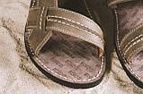 Мужские сандали кожаные летние коричневые Bonis Original 25, фото 2