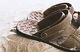 Мужские сандали кожаные летние коричневые Bonis Original 25, фото 3