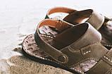 Мужские сандали кожаные летние коричневые Bonis Original 25, фото 4