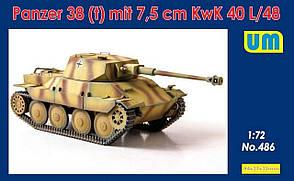 Panzer 38(t) с 75-мм пушкой KwK 40 L/48. Сборная модель.1/72 UM 486