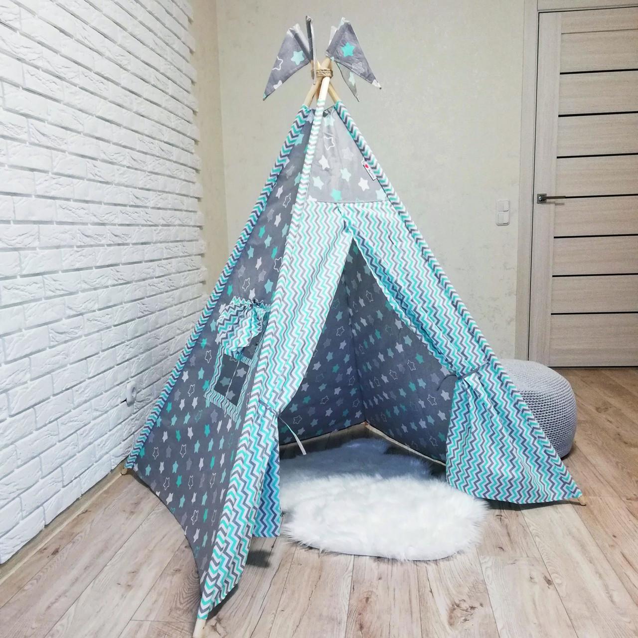 """Вигвам, детская палатка KatyPuf """"Бирюзовые пряники"""" Без коврика!!"""