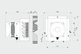 Витяжний вентилятор MplusM WWK 150 /60W, фото 2
