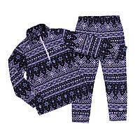 Флисовый костюм для девочки NANO BUWP602-F19 Black/Lilac. Размеры 2 -12.