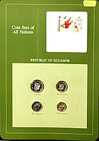 Набор монет Эквадора  (10-50 центавос,1 сукре) 1976-1985 гг. (4 шт)